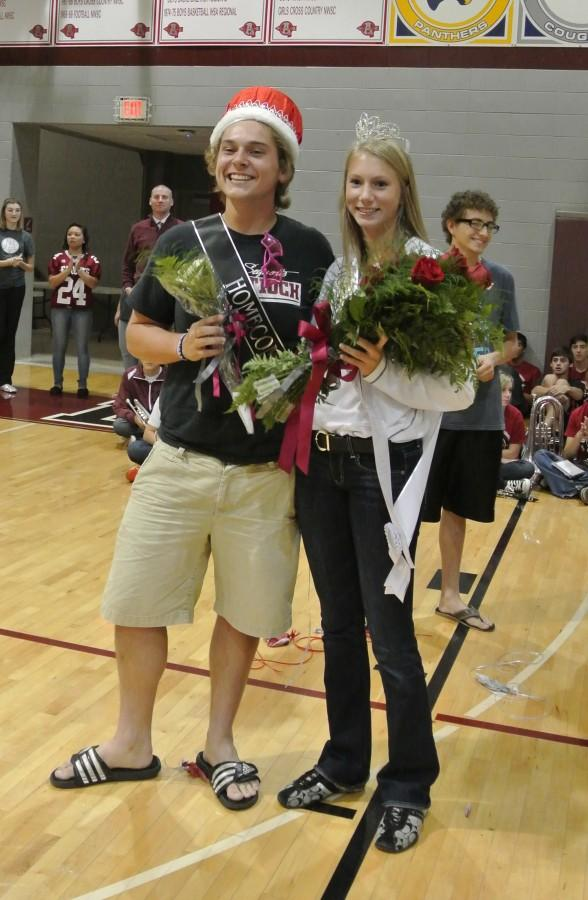 This year's Homecoming King, Tim Regan, and Queen, Kristen Kelly.