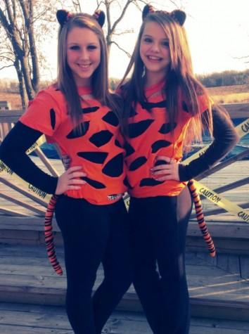 DIY tiger costumes courtesy of Amanda England.