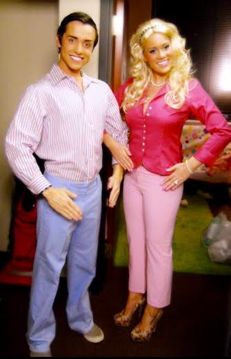 DIY Barbie and Ken costumes courtesy of Amy Paddock.  sc 1 st  Sequoit Media : barbie halloween costume adult  - Germanpascual.Com
