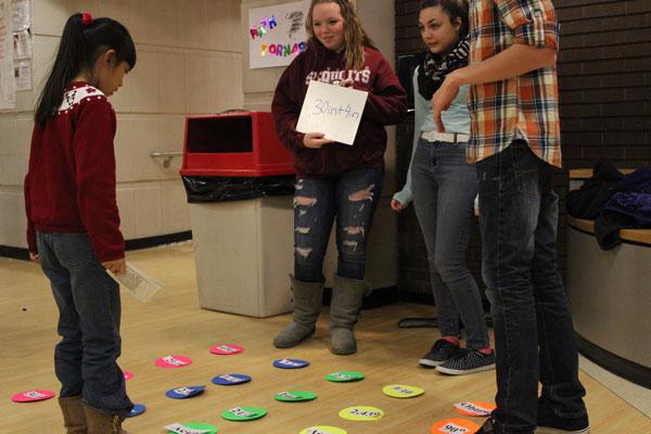 ACHS Students participating in the annual Math Fair