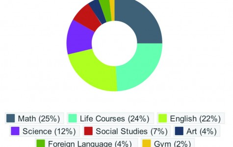 Most important subjects based on a survey done by the Tom Tom