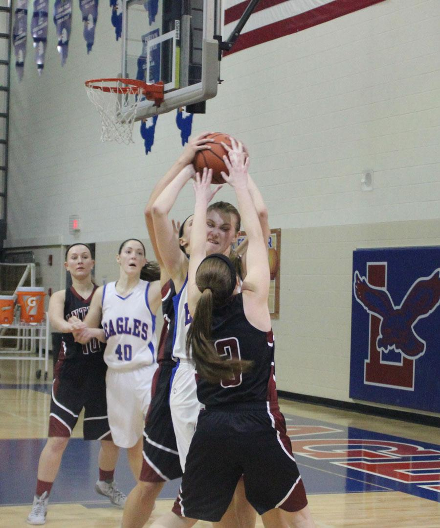 Senior Shannon Zogran going after Lakes player