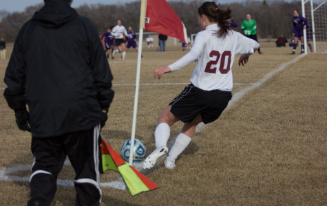 Senior Mikayla Abbeduto performs a corner kick which lead to another Sequoit goal.