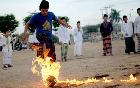 An Unusual Sport: Fireball Soccer