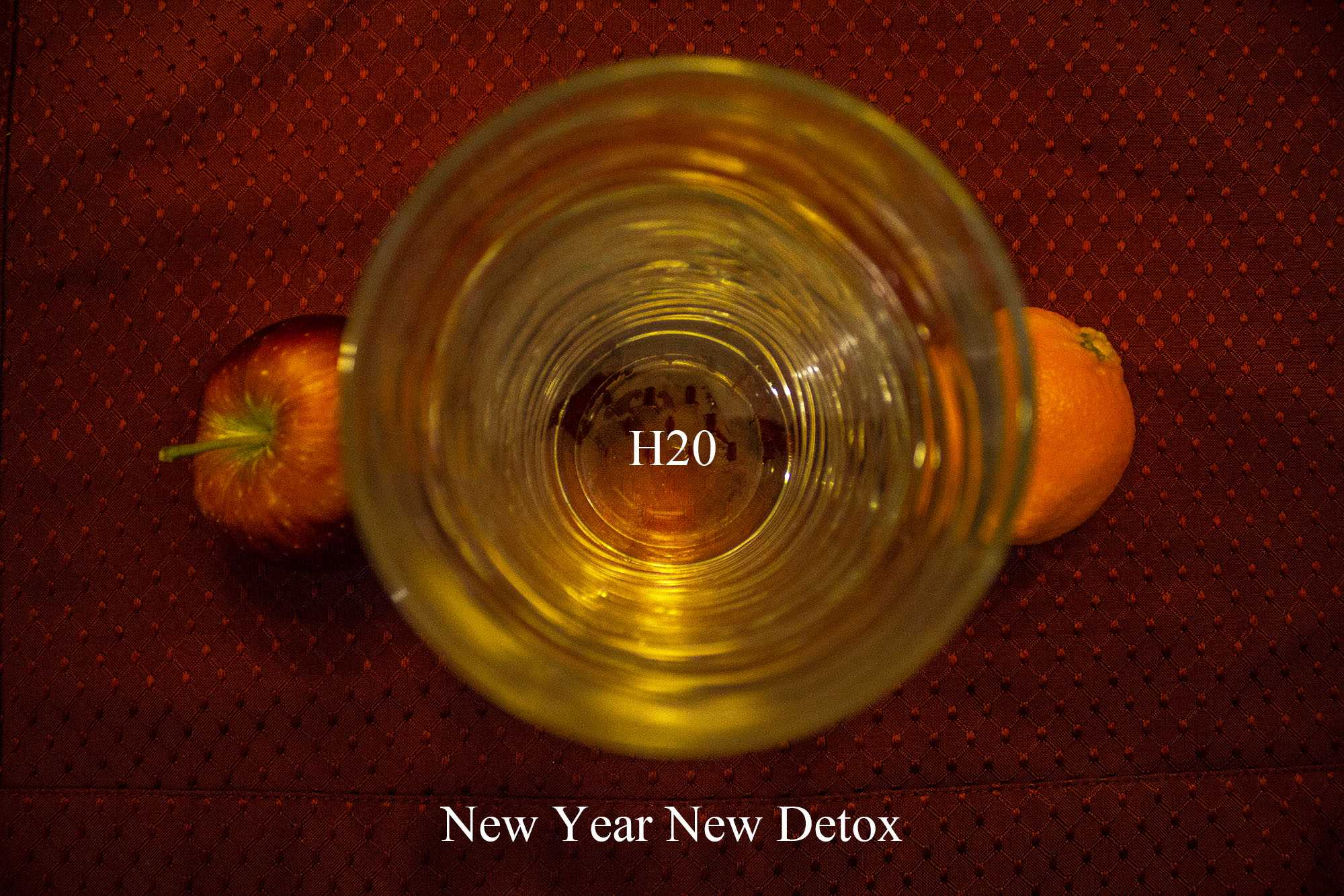Start your detox with a cool glass of water, and throw in some fresh fruit!