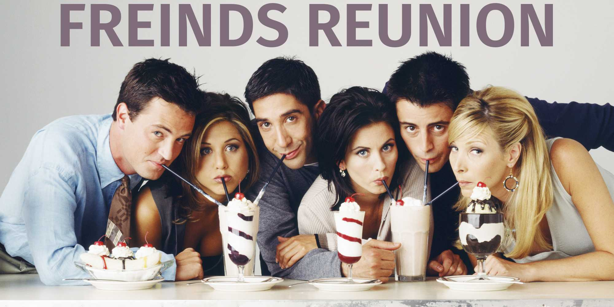 The Freinds cast get together for a reunion.