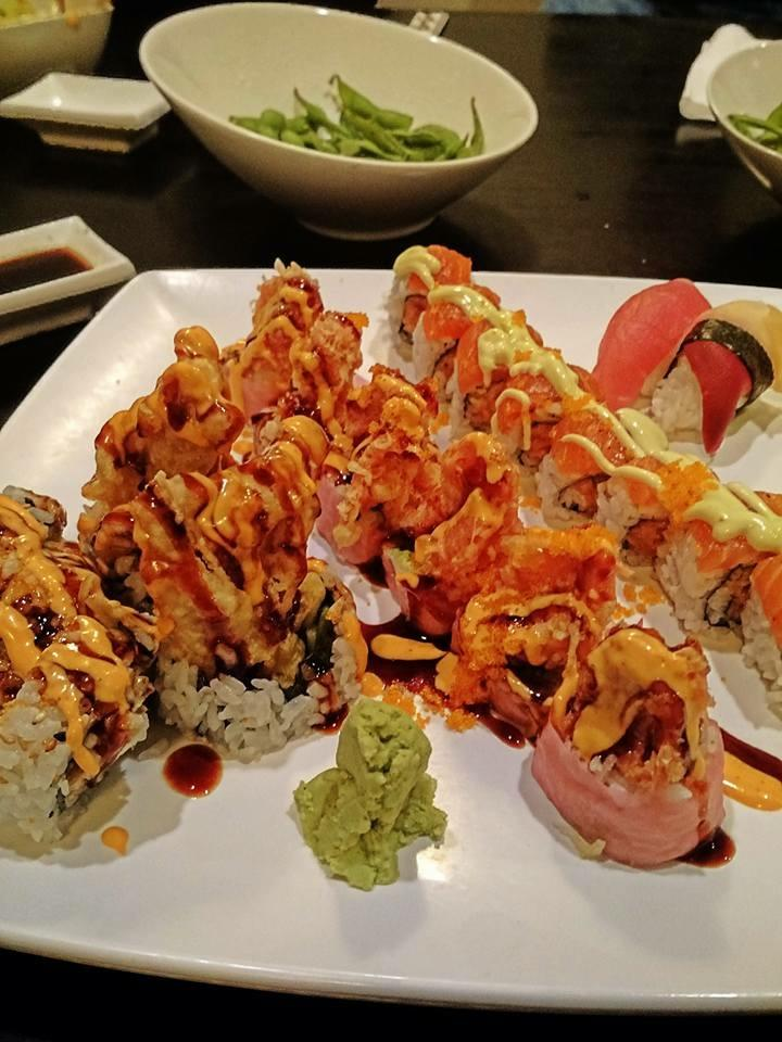 An array of sushi at Kawa. Photo by Paige Gruber.