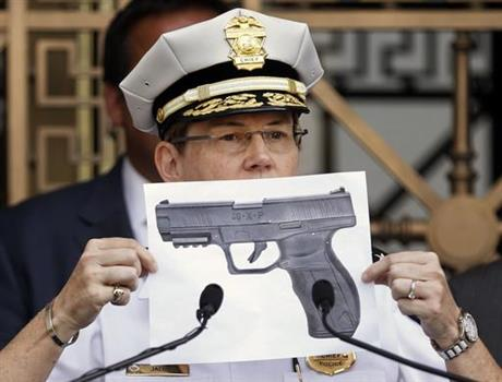 Columbus Police Chief holds up photo of BB gun pointed by Tyre King before being shot and killed by a Columbus police officer