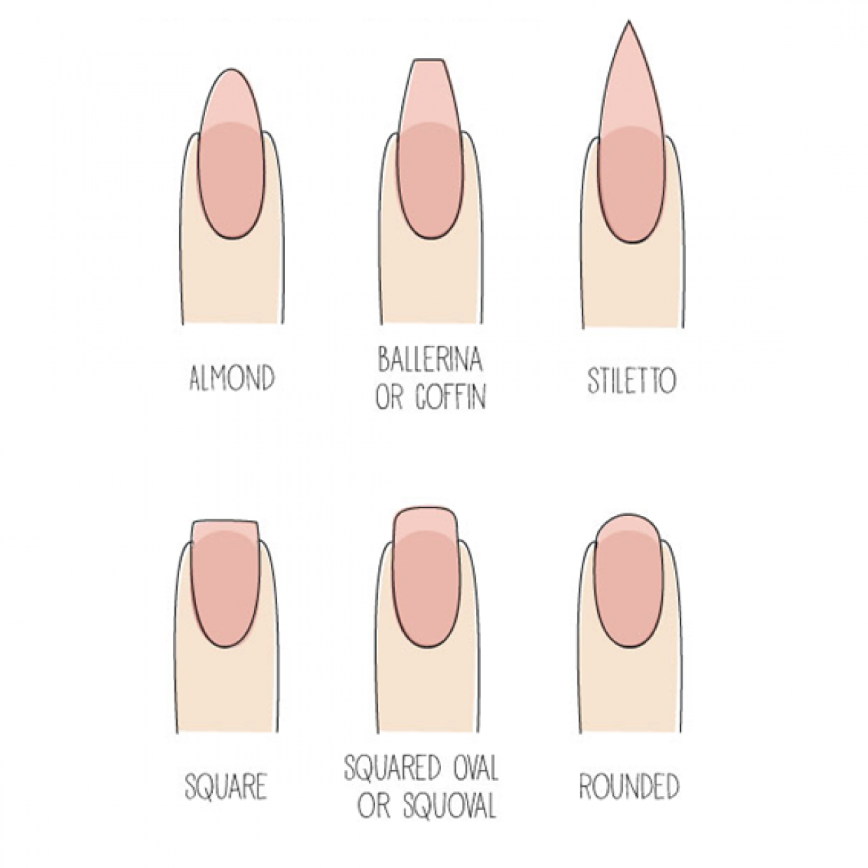 how to cut and shape nails