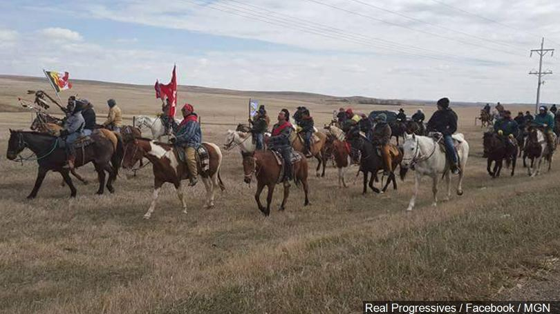 Angry+Native+Americans+of+North+Dakota%27s+Standing+Rock+Sioux+Tribe+Protest+against+the+government%27s+installation+of+a+1%2C172+-+mile+long+pipeline.