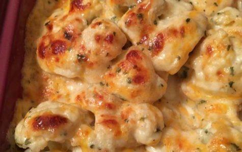 Cheddar Cheese Cauliflower Bake