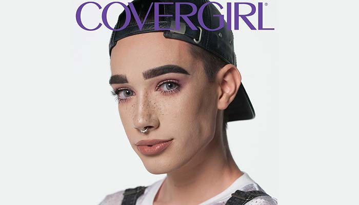 17 year old James Charles is CoverGirl's first