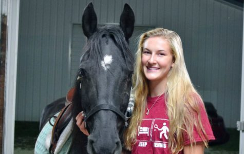 When she has down time from tennis, Kelsey Neville participates in weekly horseback riding lessons along with summer competitions.