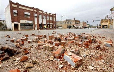 In Cushing, Oklahoma damage is shown from the Nov. 7th earthquake. The earthquake was reported as a magnitude of 5.0, that has resulted in a great deal of damage to the town.