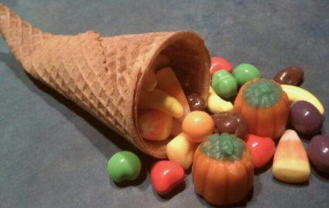 Ice Cream Cone Cornucopia: Thanksgiving DIY