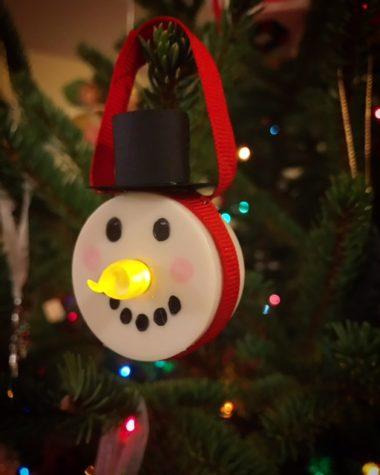 Snowman Candle Ornament: DIY