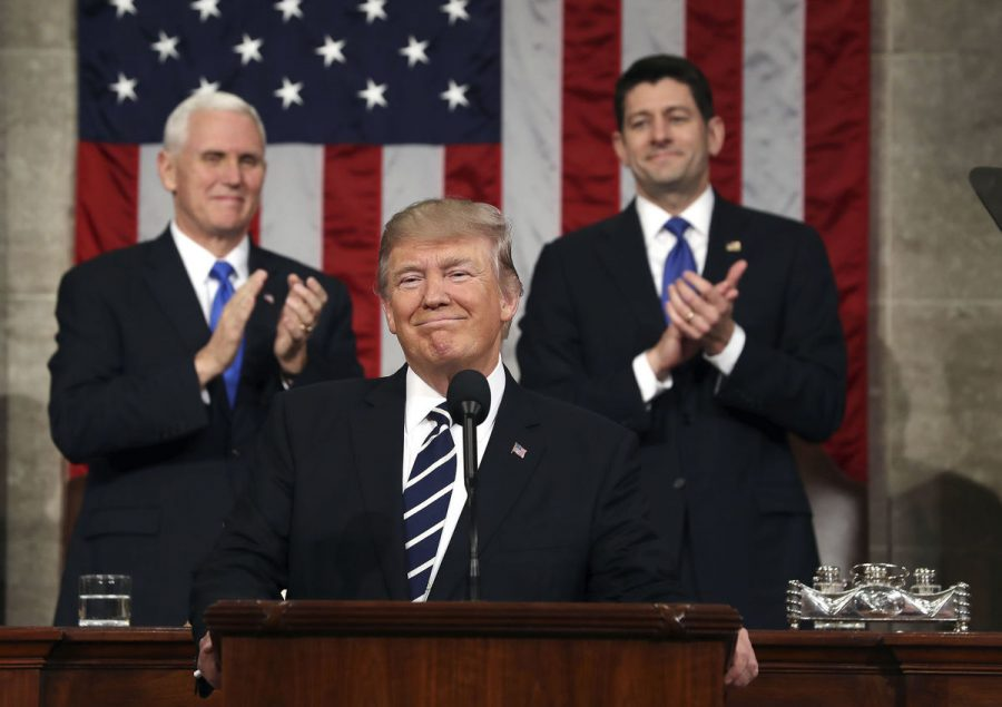 Trump received much applause during his speech as he addressed current problems he aims to fix and showed attempt towards bridging the bipartisan gap between the two parties.