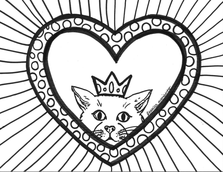 Weekly+Coloring+Page%3A+Colorful+Cats