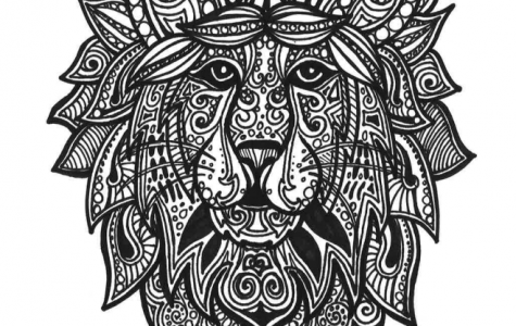 Weekly Coloring Page: Lion Heart