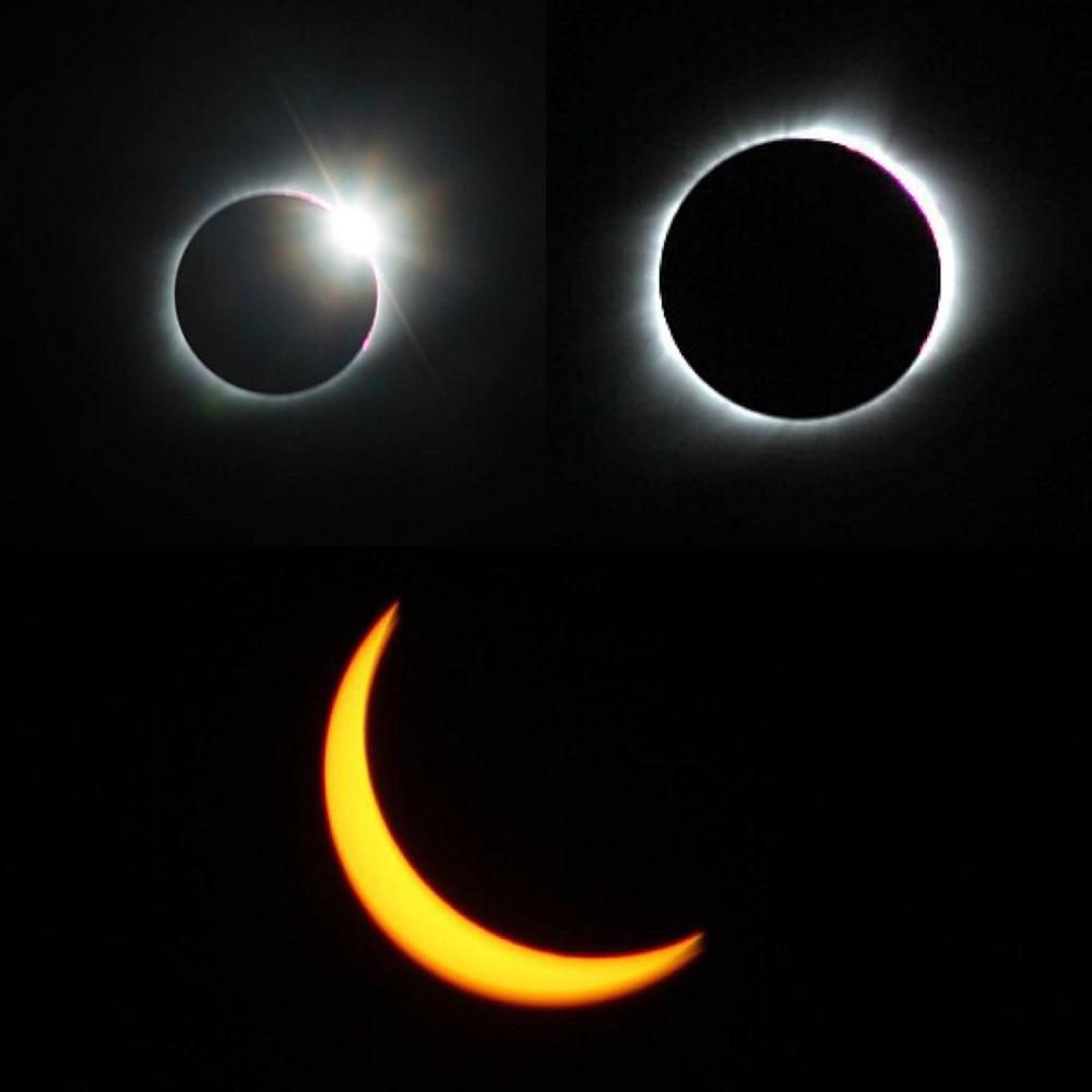 The+view+before+totality+%28top+left%29%2C+during+%28top+right%29%2C+and+after+totality+%28bottom%29.+Senior+Jessica+Lamberty+traveled+to+Carbondale%2C+IL.+to+witness+totality+during+the+eclipse+on+Monday%2C+August+21.