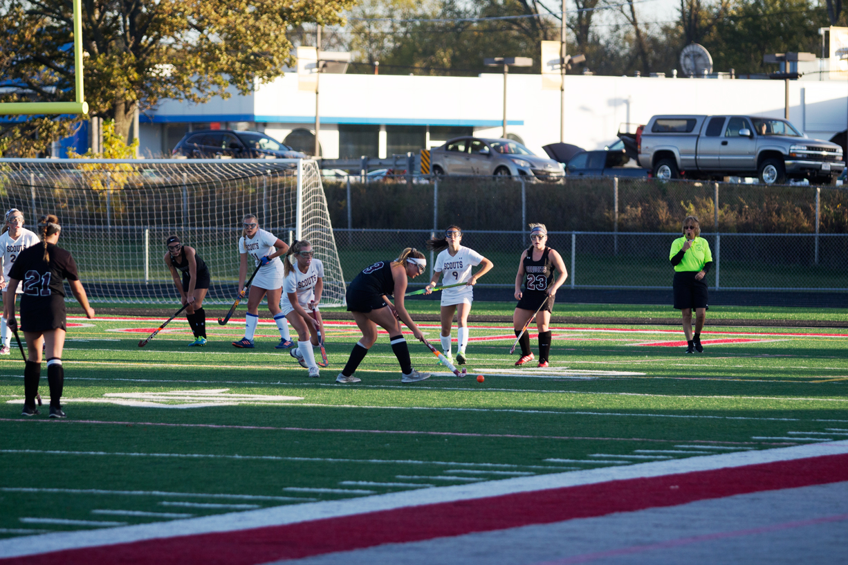The Sequoits move down the field looking for an opportunity to score.