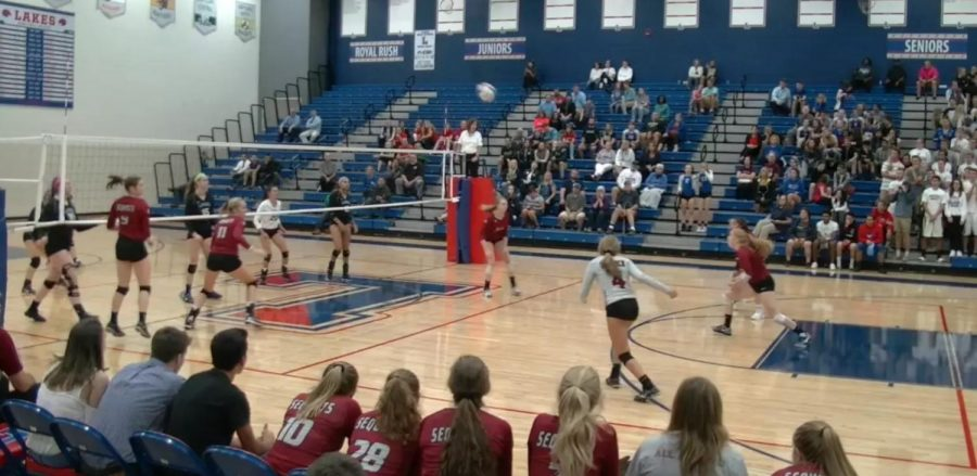 Antioch Takes On Lakes in Volleyball