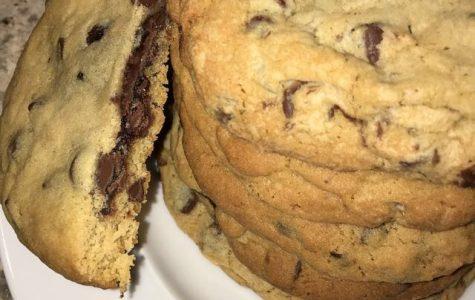 Brownie Stuffed Chocolate Chip Monster Cookie