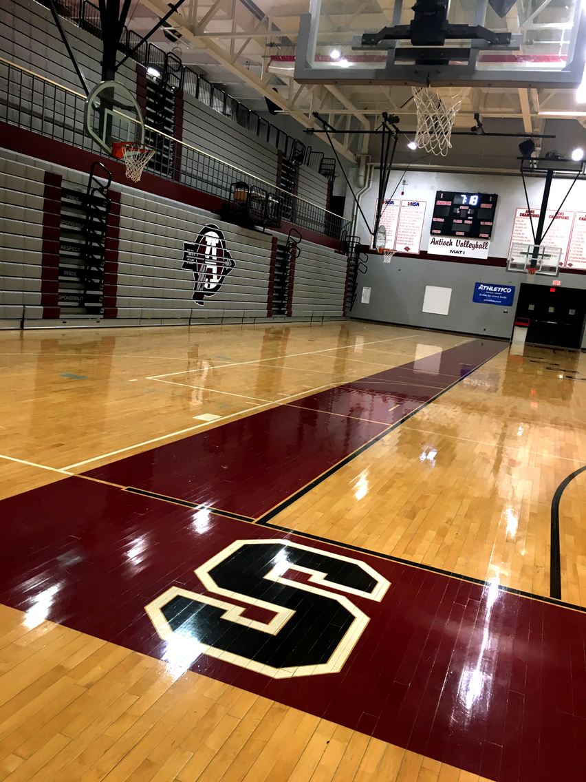 The ACHS North Gym is where basketball games take place