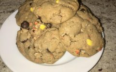 Tasty Tom Tom: Reese's Pieces Monster Cookies
