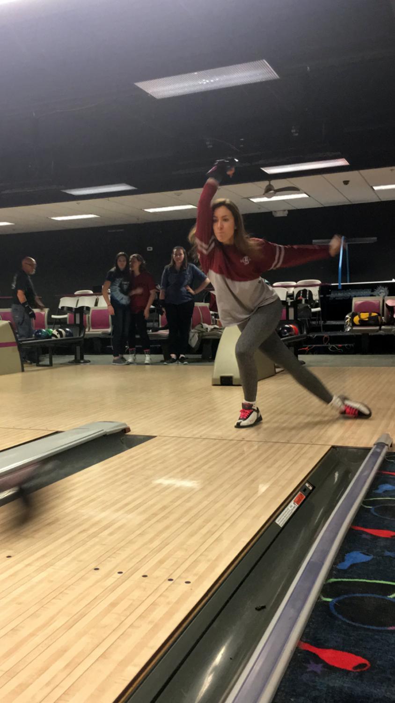 Samantha Knab bowls