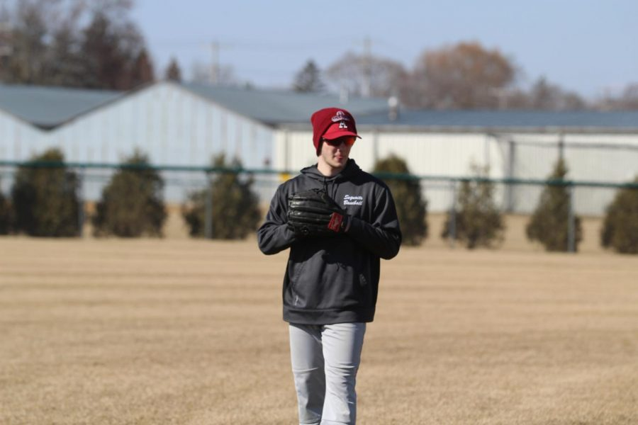 Baseball continues to practice in order to improve all of their personal skills.