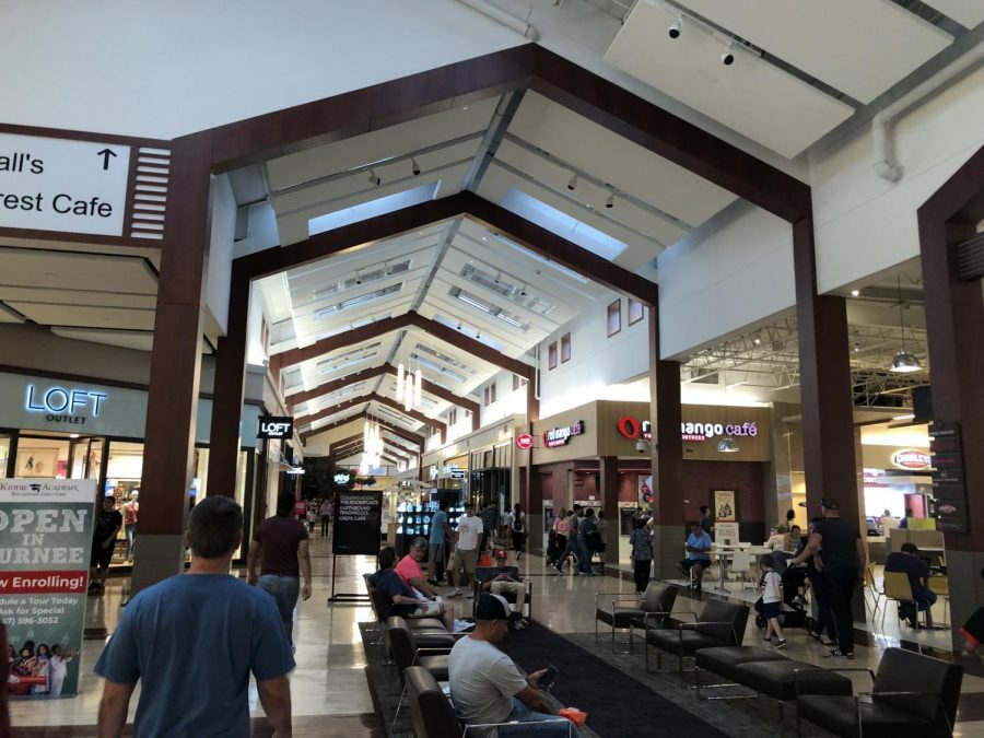 The best time to go to the mall is during the week because on the weekend, it gets very busy.