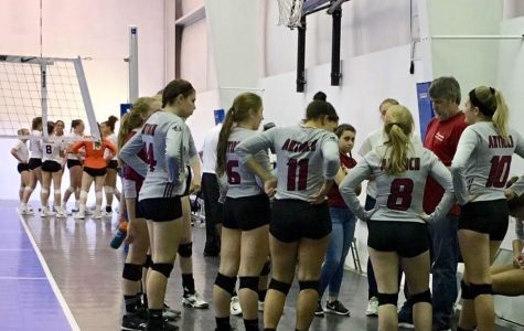 Girls Volleyball Play Hard at Harvest Christian Academy