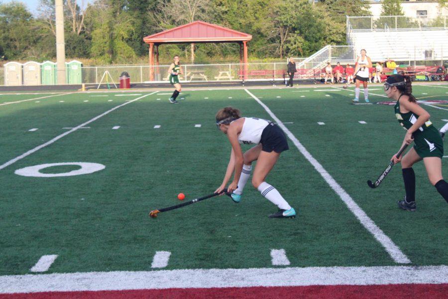 Junior Paige Bolton advances the ball.