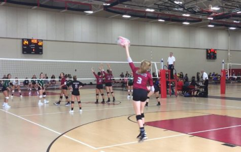 Hannah Benes serves for the Sequoits.