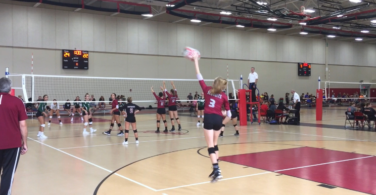 Hannah+Benes+serves+for+the+Sequoits.