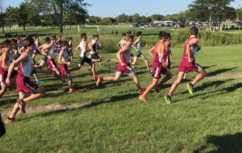 Boys cross country starts their race off strongly.