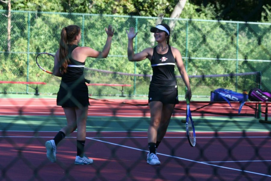 Girls tennis plays hard at the Spirit of the Northwest Tournament.