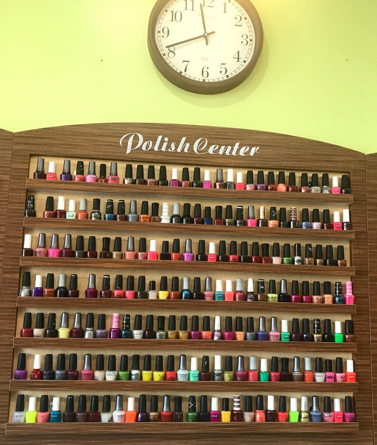 Choosing between the many colors of nail polish is one the decisions that are made while preparing for Homecoming.