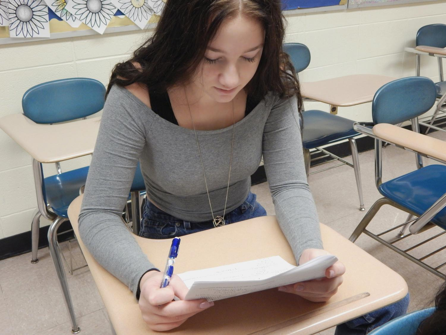 People who suffer from test anxiety are more likely to check their tests multiple times before turning them in.