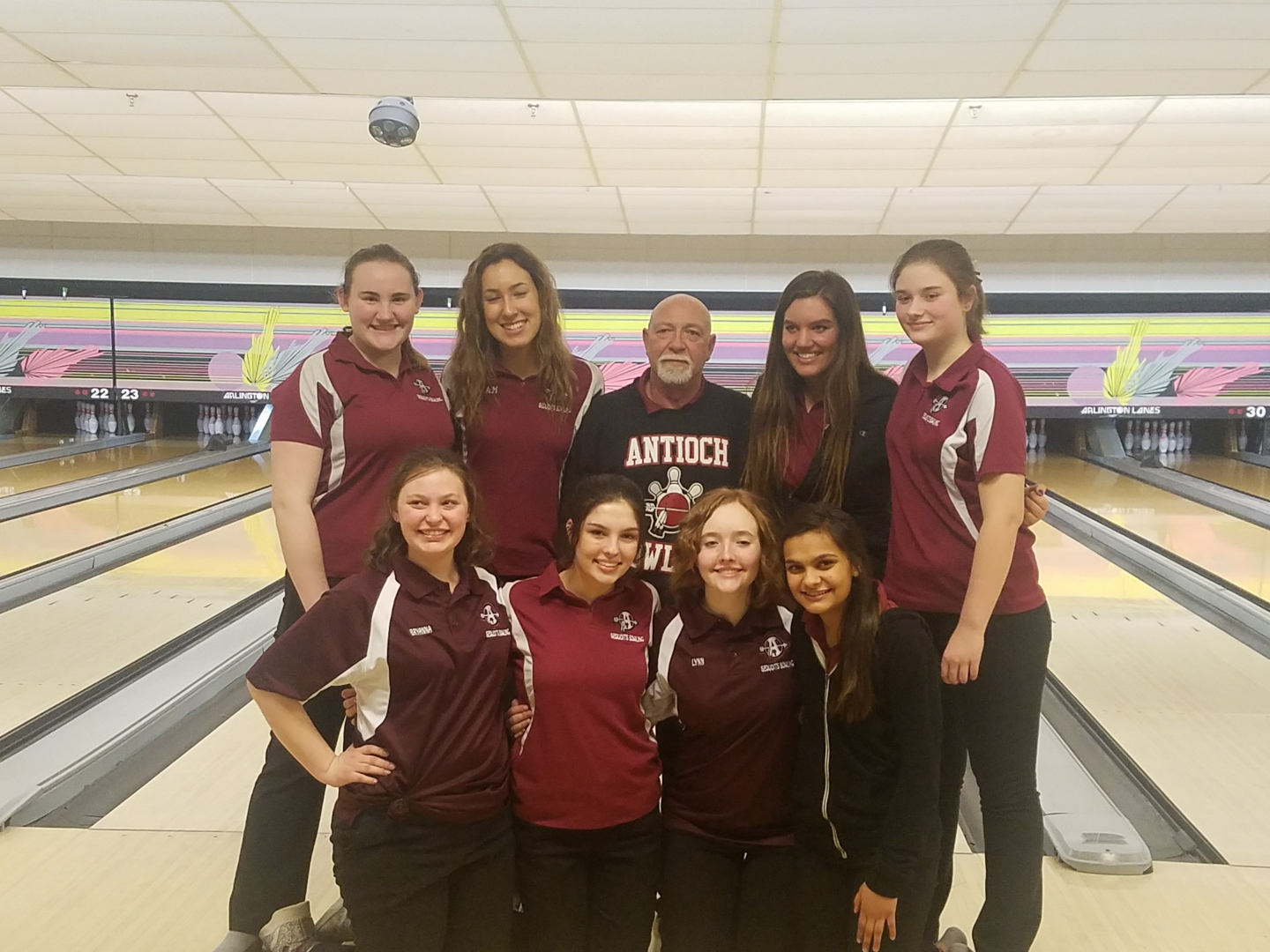 Last year's bowling team was a big role model for this years team.