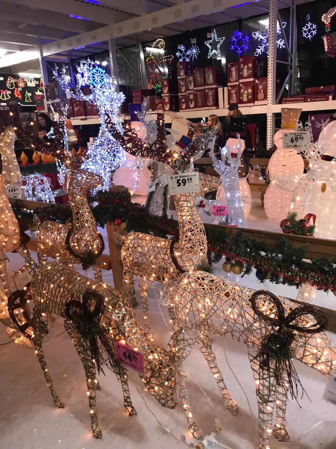 Many stores display Christmas decorations before they display Thanksgiving decorations, despite the chronology of the holidays.