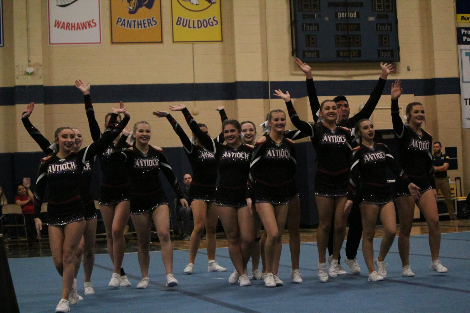 Antioch celebrates their performance at conference.