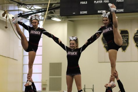 Sequoit Cheer Tackles Conference