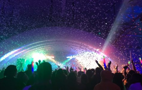 The north gym was transformed into multiple DJ stages and activity stations for the Winterfest attendees to enjoy. At the end of the night, the confetti cannons showered neon paper strips and rained down on the students.