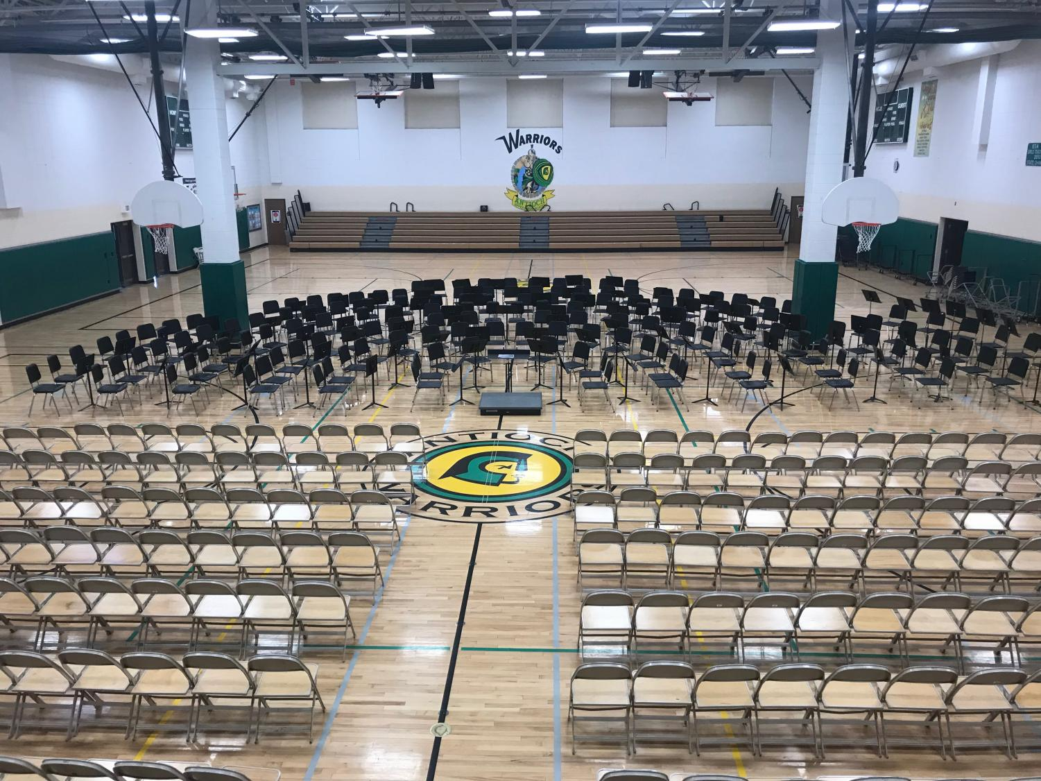 The District 117 orchestra festival was set up at Antioch Upper Grade School.
