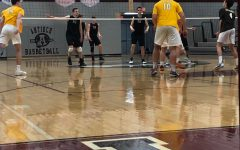 Boys volleyball faced Carmel in first game of the season.