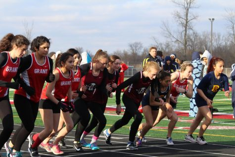 Girls Track Falls Behind First