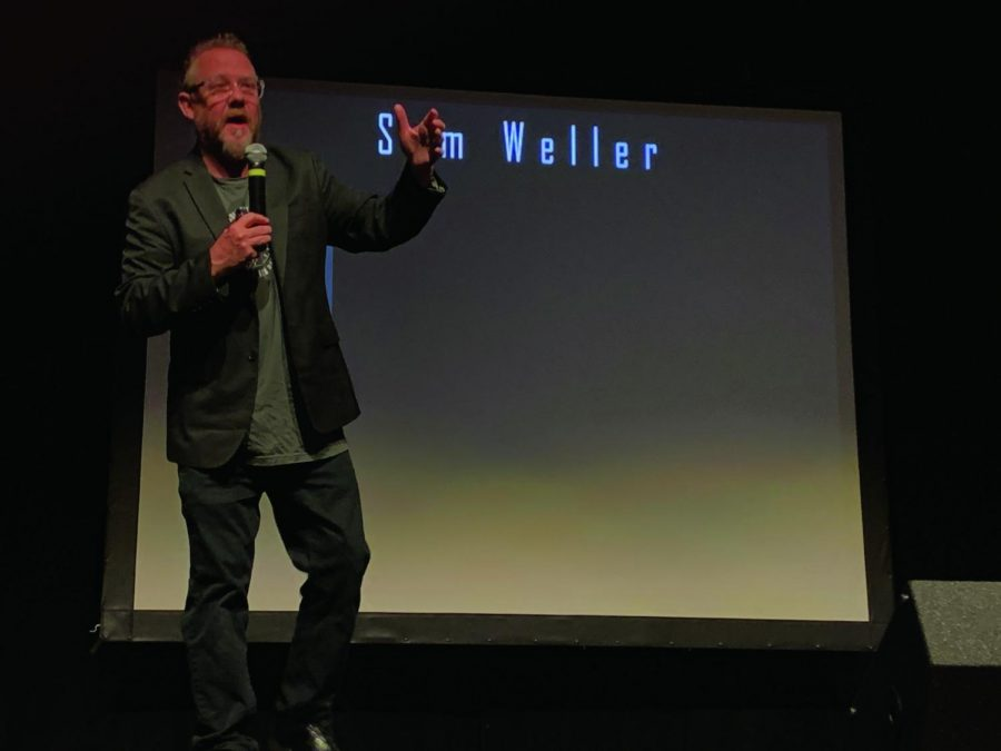 Sam Weller is an author who presented the first day of Storyteller Series.