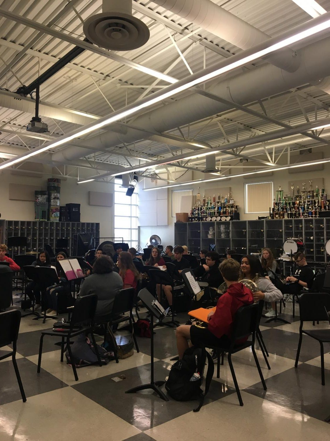 Jazz Band continues to work hard for upcoming performances.